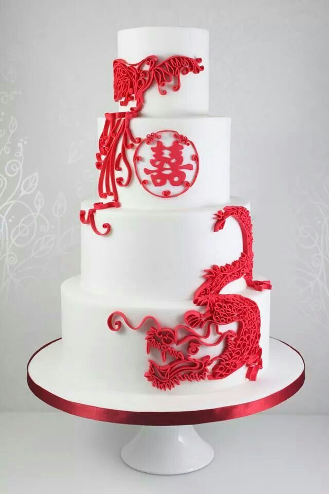 Red Pheonix And Chinese Dragon Wedding In 2019 Themed Wedding