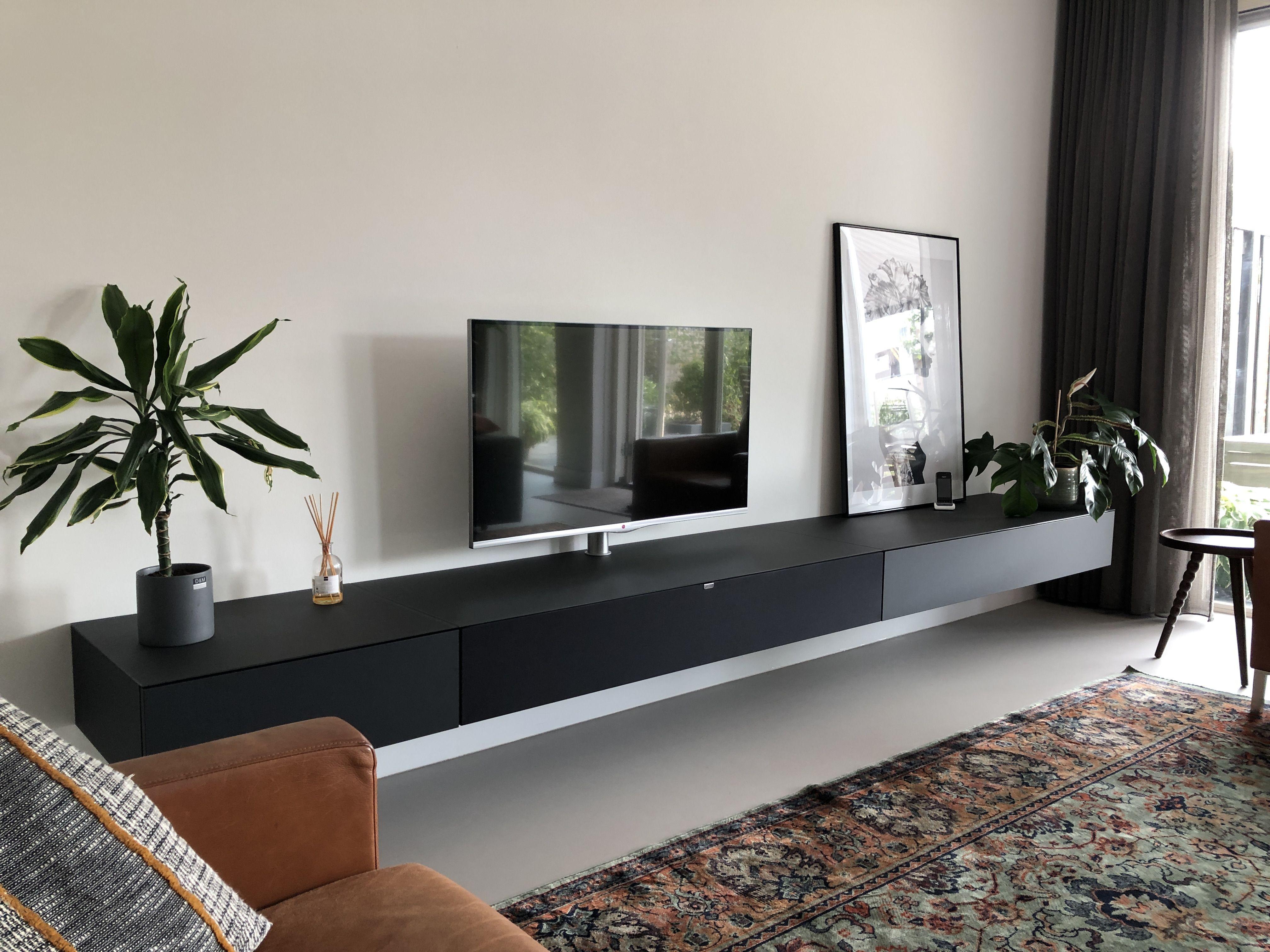 Tv meubel zwevend zwart