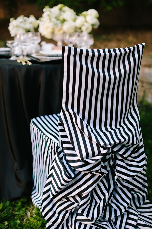 formal chair covers Black and White Striped Chair Covers 275x412 - tim burton halloween decorations
