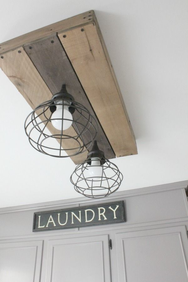 laundry room lighting ideas. These Homeowners Transformed Their Dated Laundry Room Into A Gorgeous, Vintage Inspired Mudroom! I Lighting Ideas