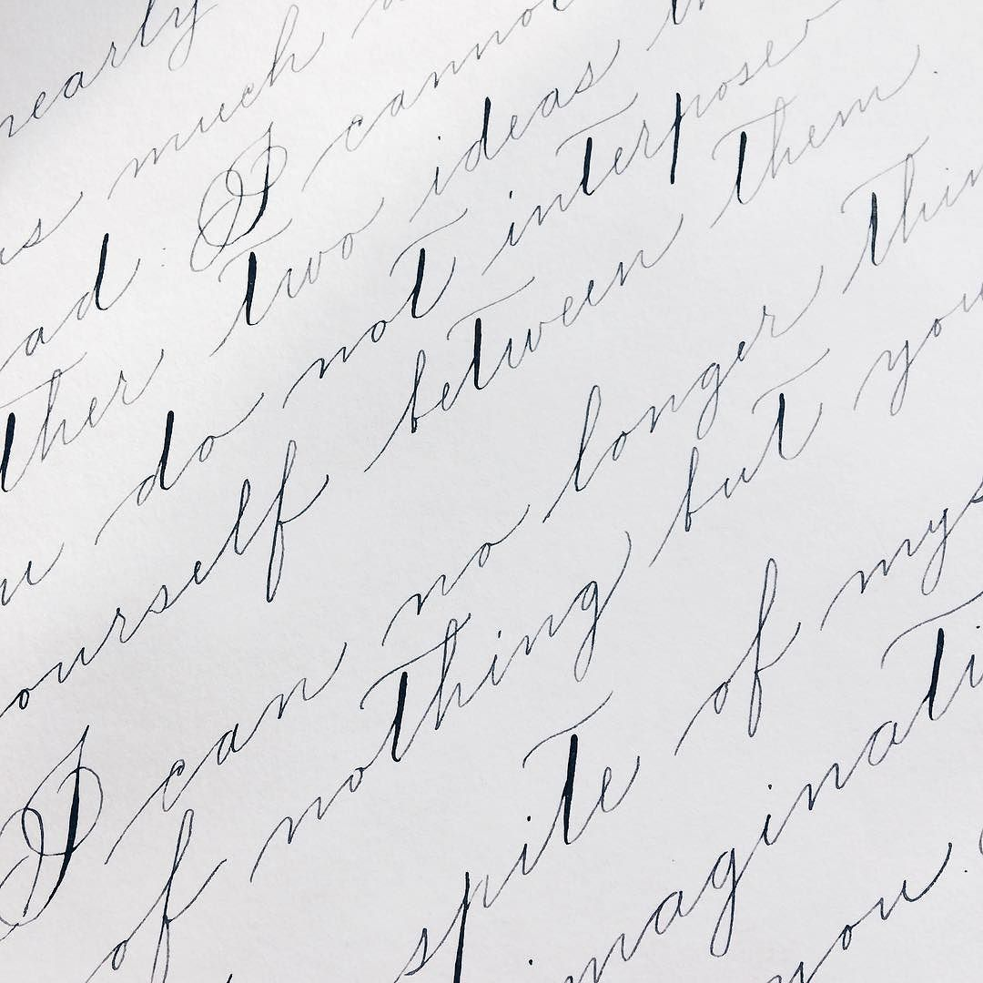 Having my own Spencerian Script boot camp since the