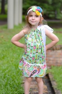 Floral and Paisley Print Pillowcase Dress and Headband