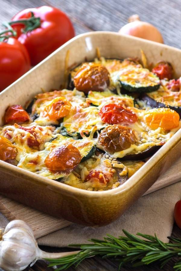 Photo of Mediterranean vegetable casserole with zucchini & aubergine