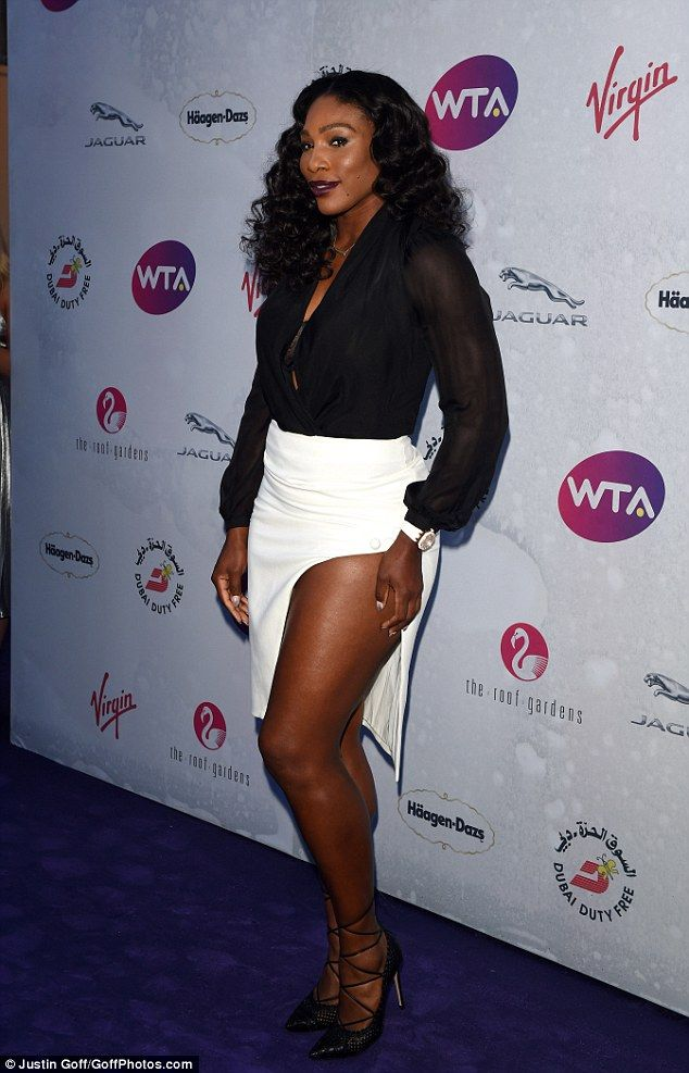 Serena Williams Puts On A Very Leggy Display In Racy White Skirt Serena Williams Serena Wimbledon Party