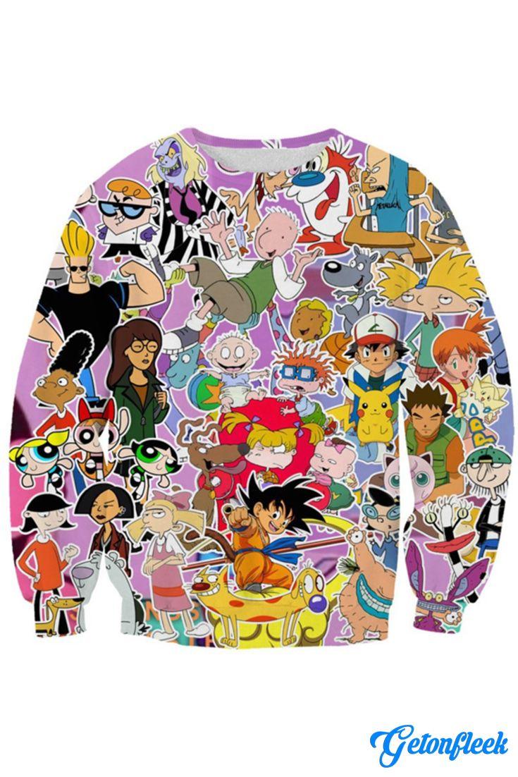 Powerpuff Girls 90s Nostalgia Cartoon Classic Pullover Sweatshirt Hoodie Sweater
