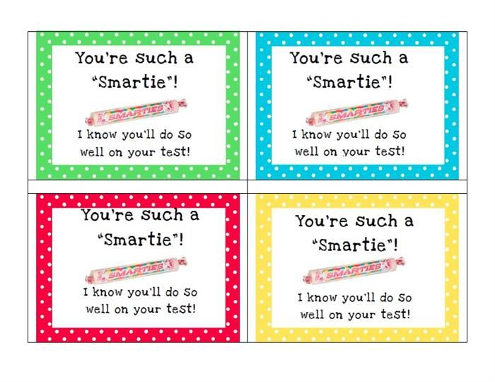 A great way to encourage your students before the big test!