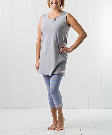 Another great find on #zulily! Silver Tank & Capri Leggings - Plus Too #zulilyfinds