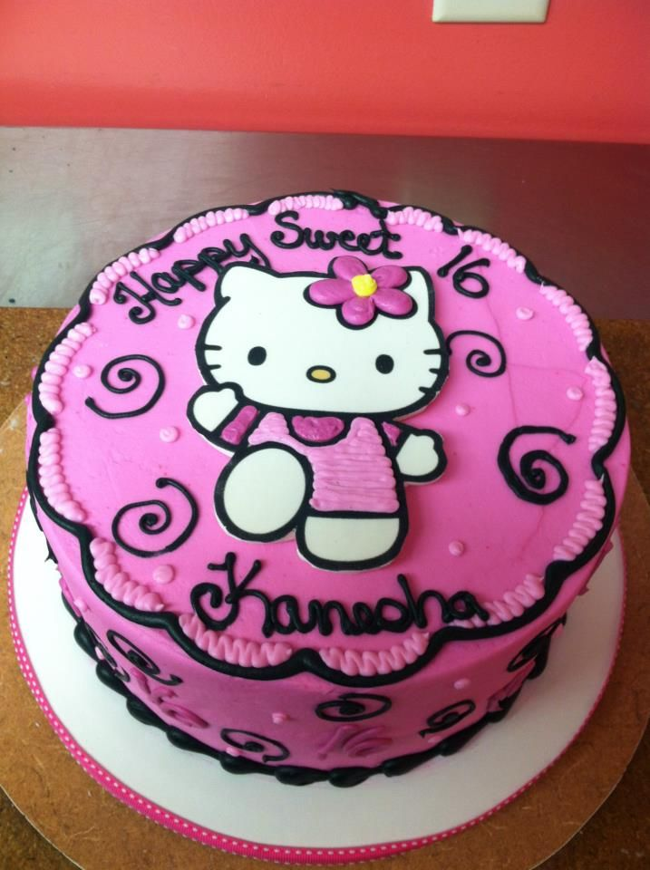 Hello Kitty Cake Pink Sweet 16 Cake By Cake Amp All Things
