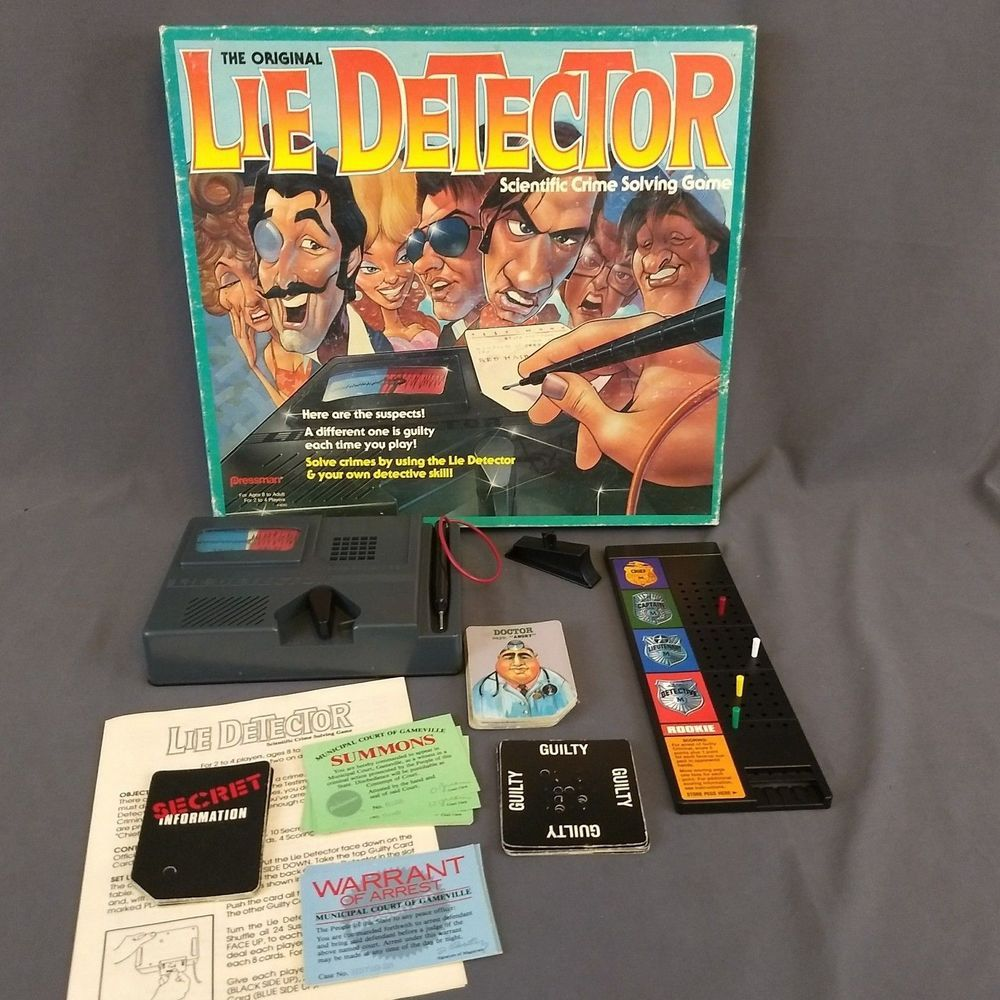 Vintage The Original Lie Detector Board Game 1987 Pressman Mattel