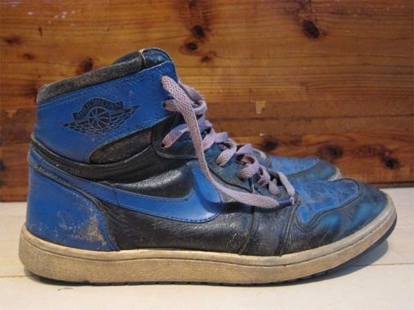 air jordan shoes black and blue royal 1980