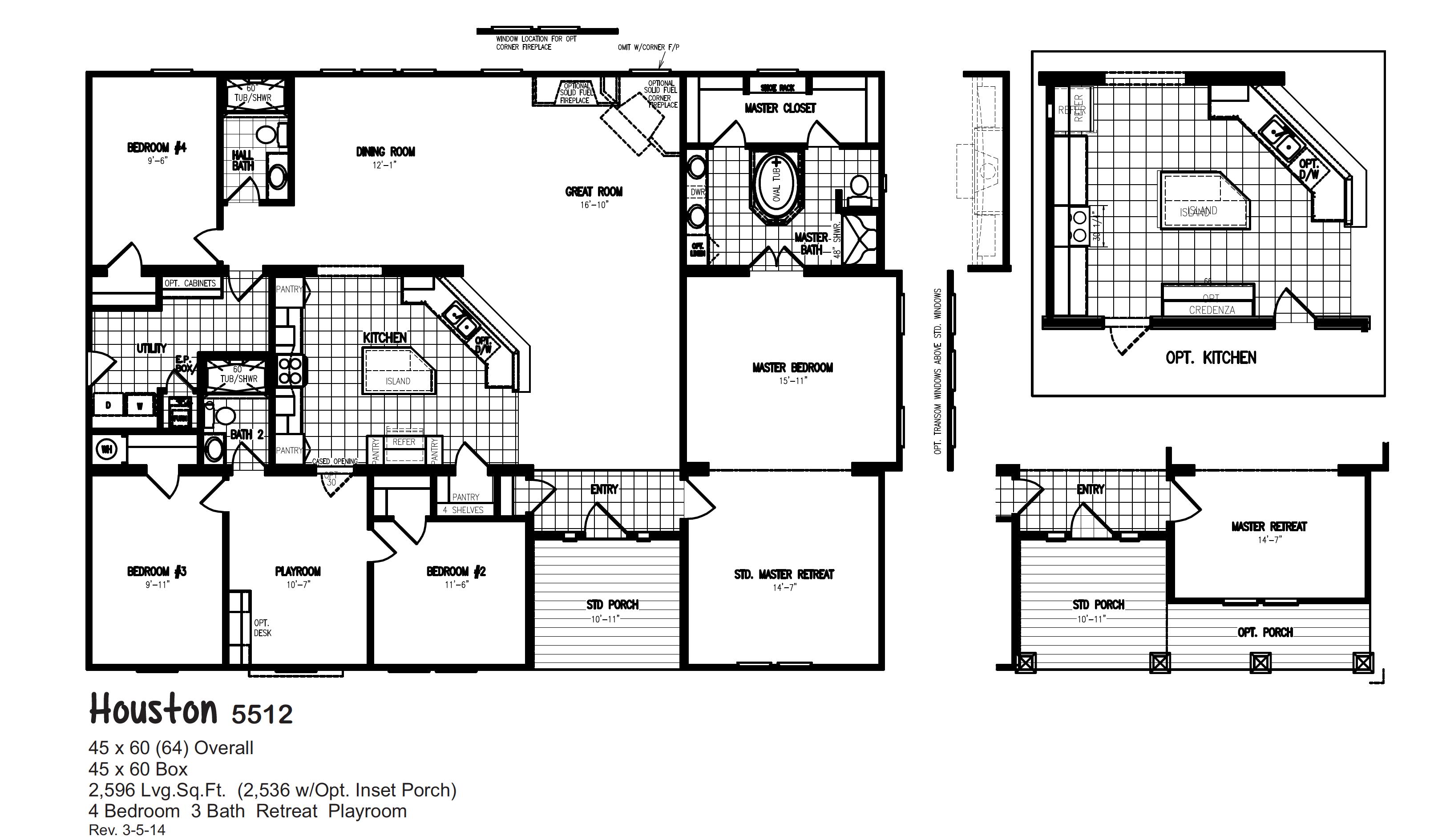 Floorplans Oak Creek Homes Mobile home floor plans
