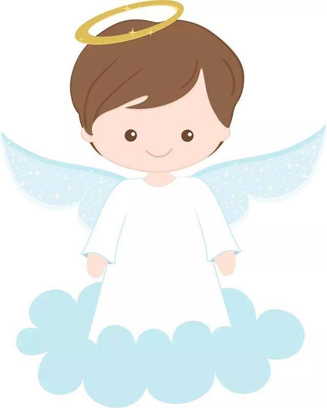 Angel Of God Anjinho Desenho Batismo De Menina Batizado Menino