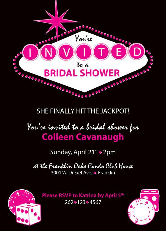 vegas gambling themed customizable bridal shower invitation on etsy 2184 aud