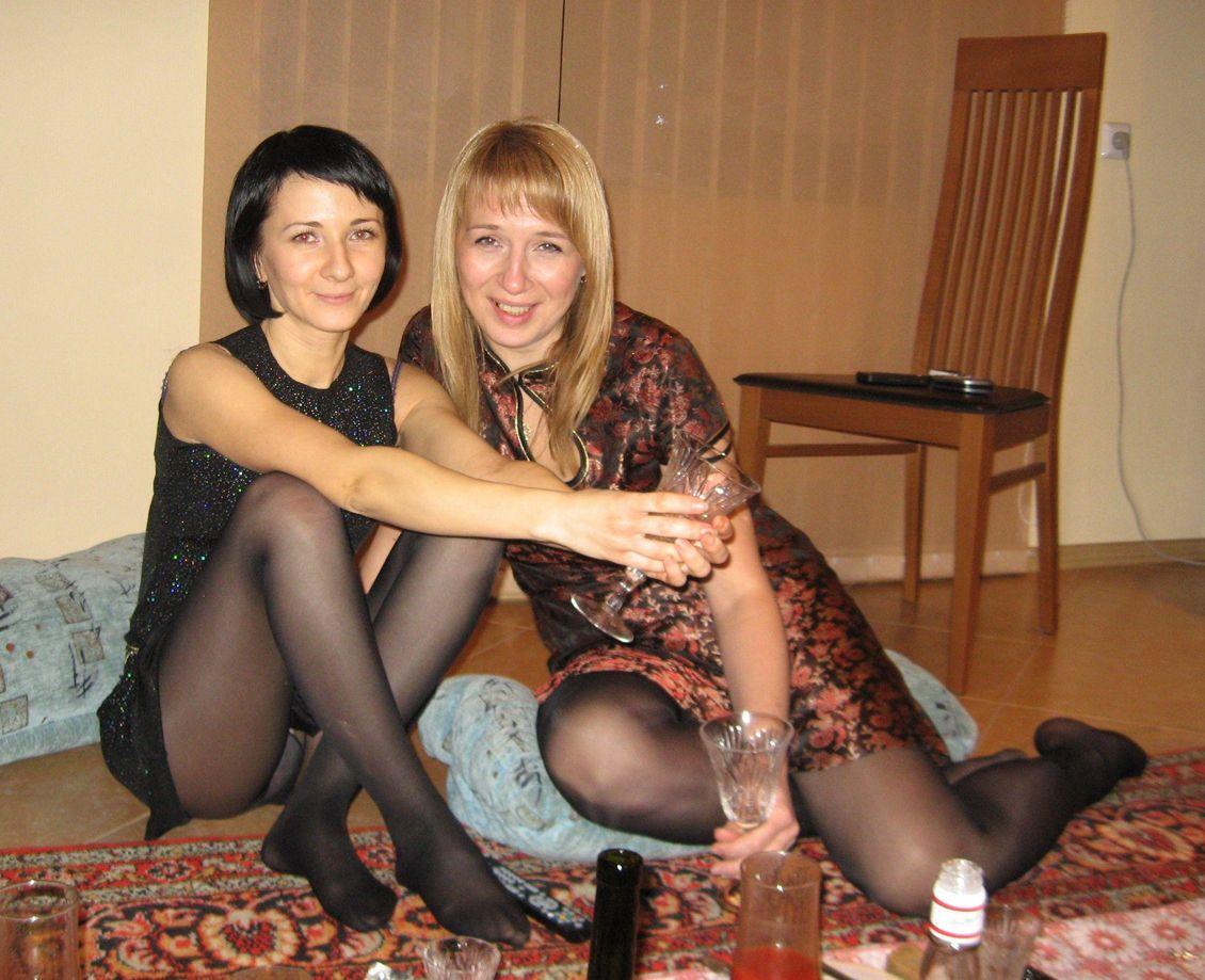 Pantyhose hot drinking
