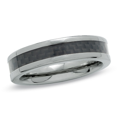 I've tagged a product on Zales: Men's 6.0mm Black Carbon Fiber Inlay Titanium Wedding Band