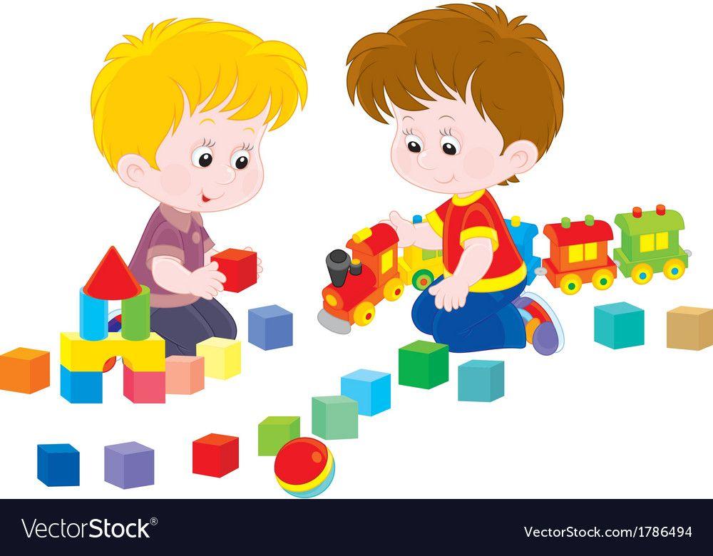 Children playing Royalty Free Vector Image - VectorStock ...