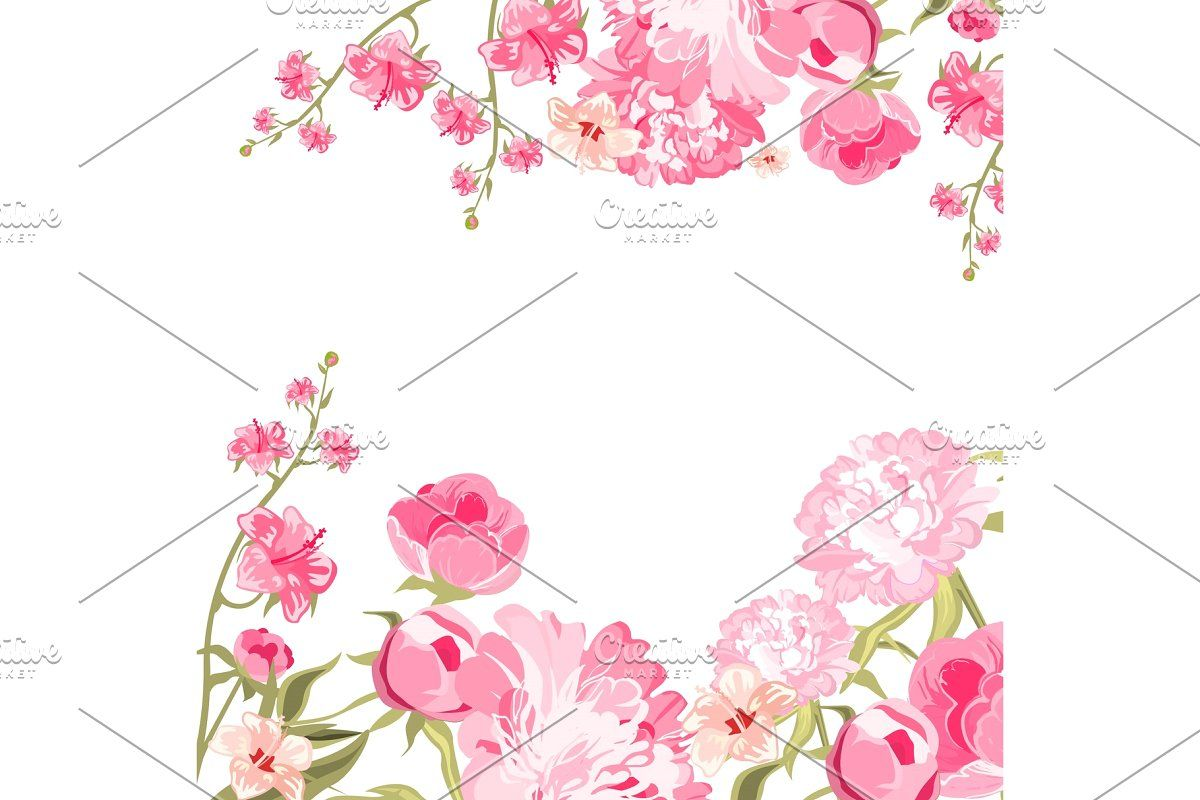 Download Premium Illustration Of Blank White Floral Card Template Floral Cards Flower Illustration Card Template