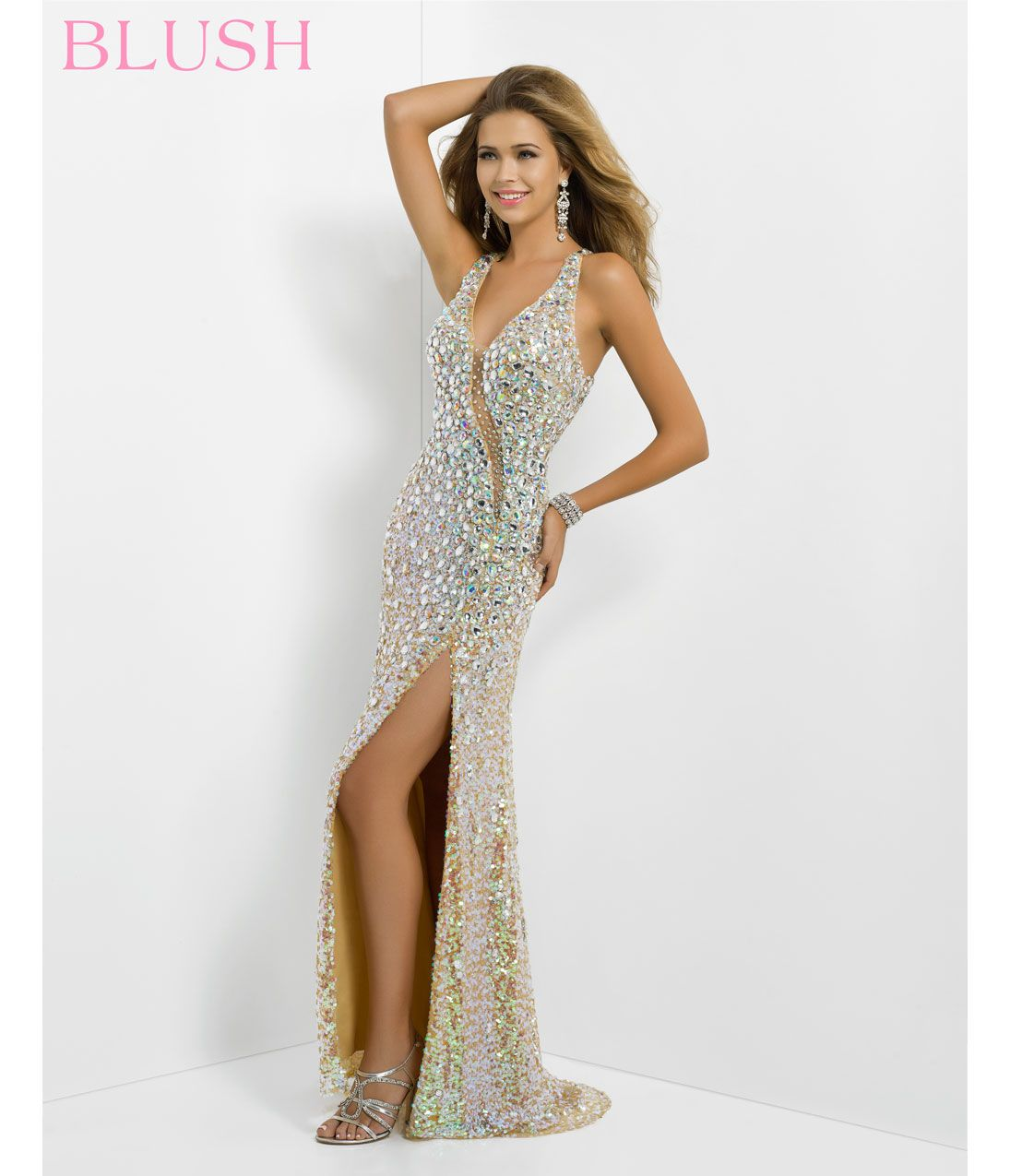 White Sequin Prom Dress Photo Album - Reikian