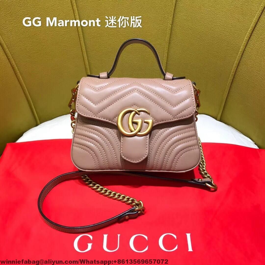 2c53d12fe3e6 Gucci GG Marmont Leather Mini Top Handle Bag 2018 | Gucci | Gucci ...