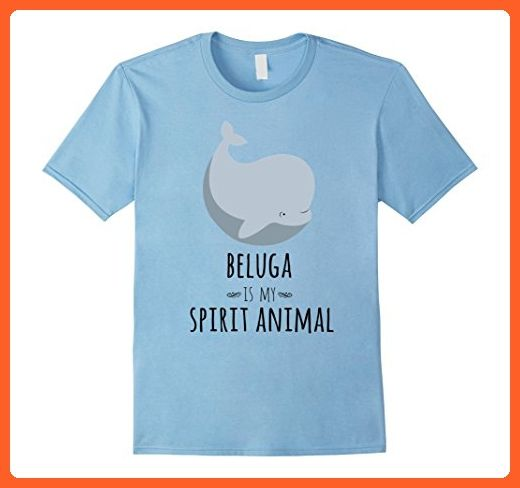 Mens Beluga Whale Is My Spirit Animal Funny Whale T-Shirt XL Baby Blue - Animal shirts (*Partner-Link)