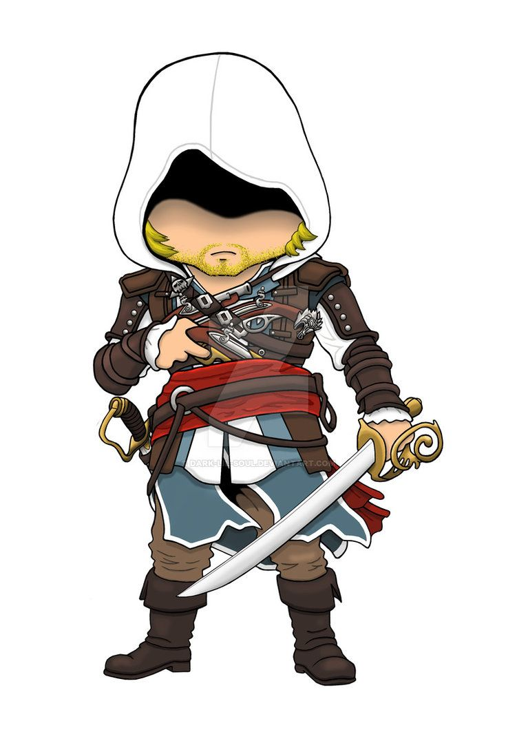 """Edward Kenway Chibi: Assassin's Creed 4 Black Flag"" by ..."