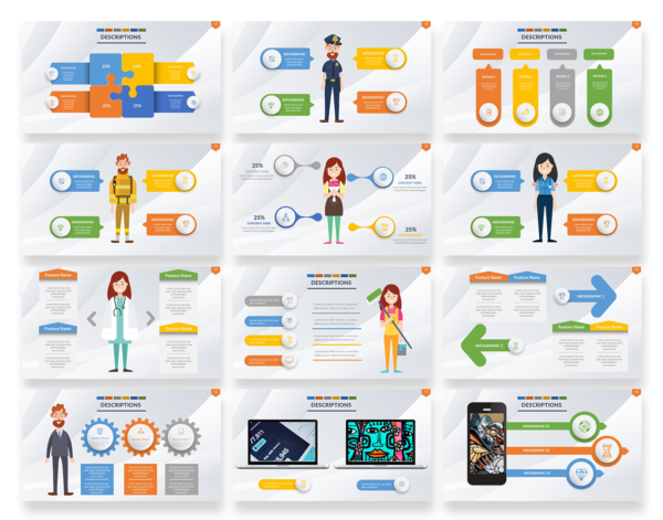 Business presentation template slides for Powerpoint and ...