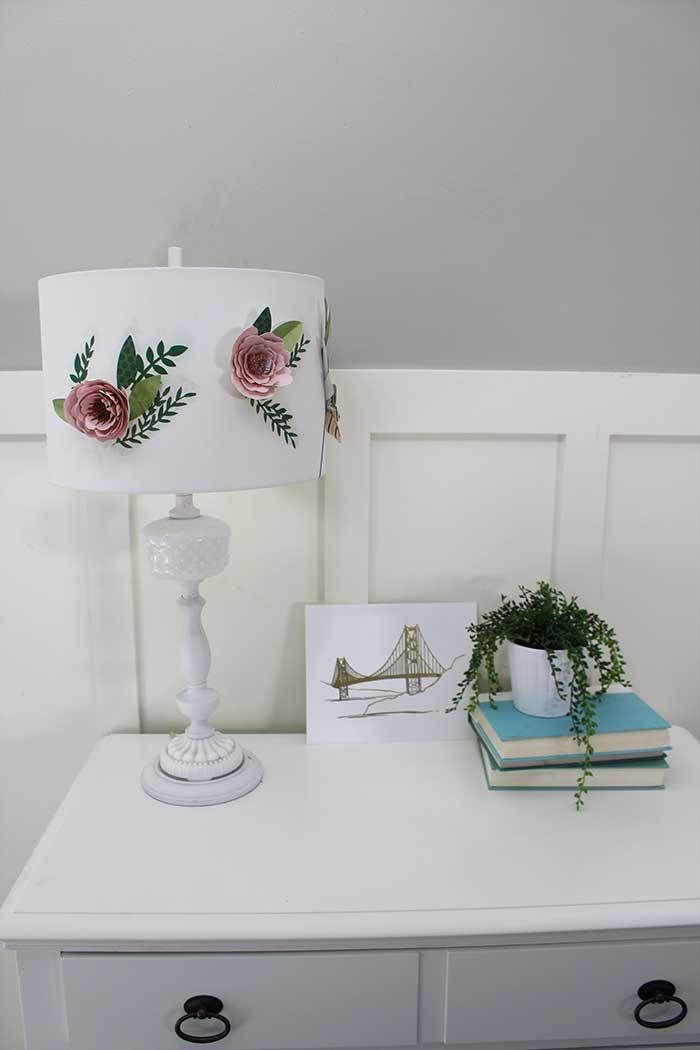 Paper flower lamp shade flower diy paper and cricut paper flower lamp shade mightylinksfo Gallery