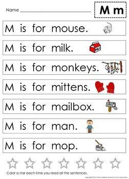 Alphabet: Letter Sentences to Teach Beginning Sounds & Letter ...