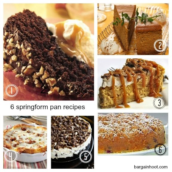 Cake recipe using springform pan