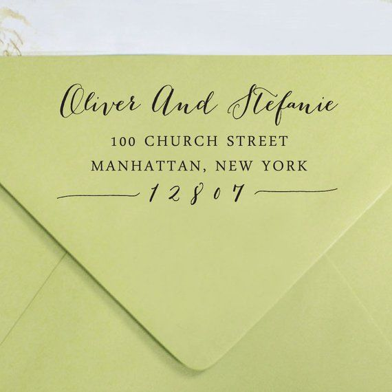 Custom Return Address Stamp Self Inking Rubber Personalized Sta