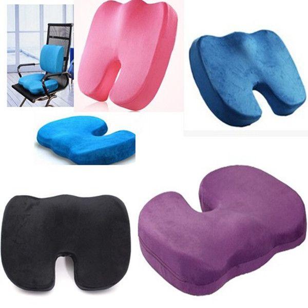 Orthopedics Seat Solution Cushion Memory Foam Back Ache Release At