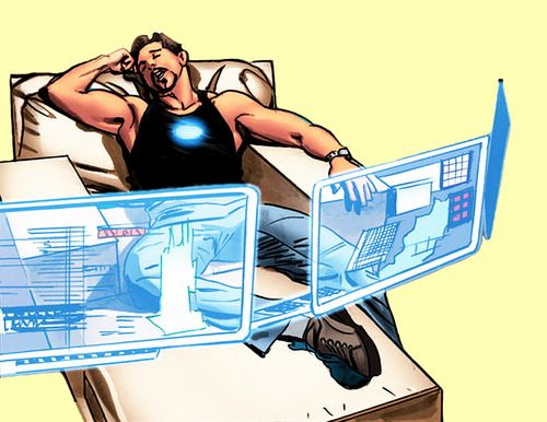 Tired Tony Stark