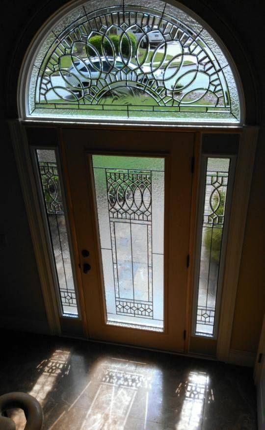 Decorative Glass For Front Door Sides And Round Palladium Window Above Leaded Glass Door Door Window Glass Glass Front Door