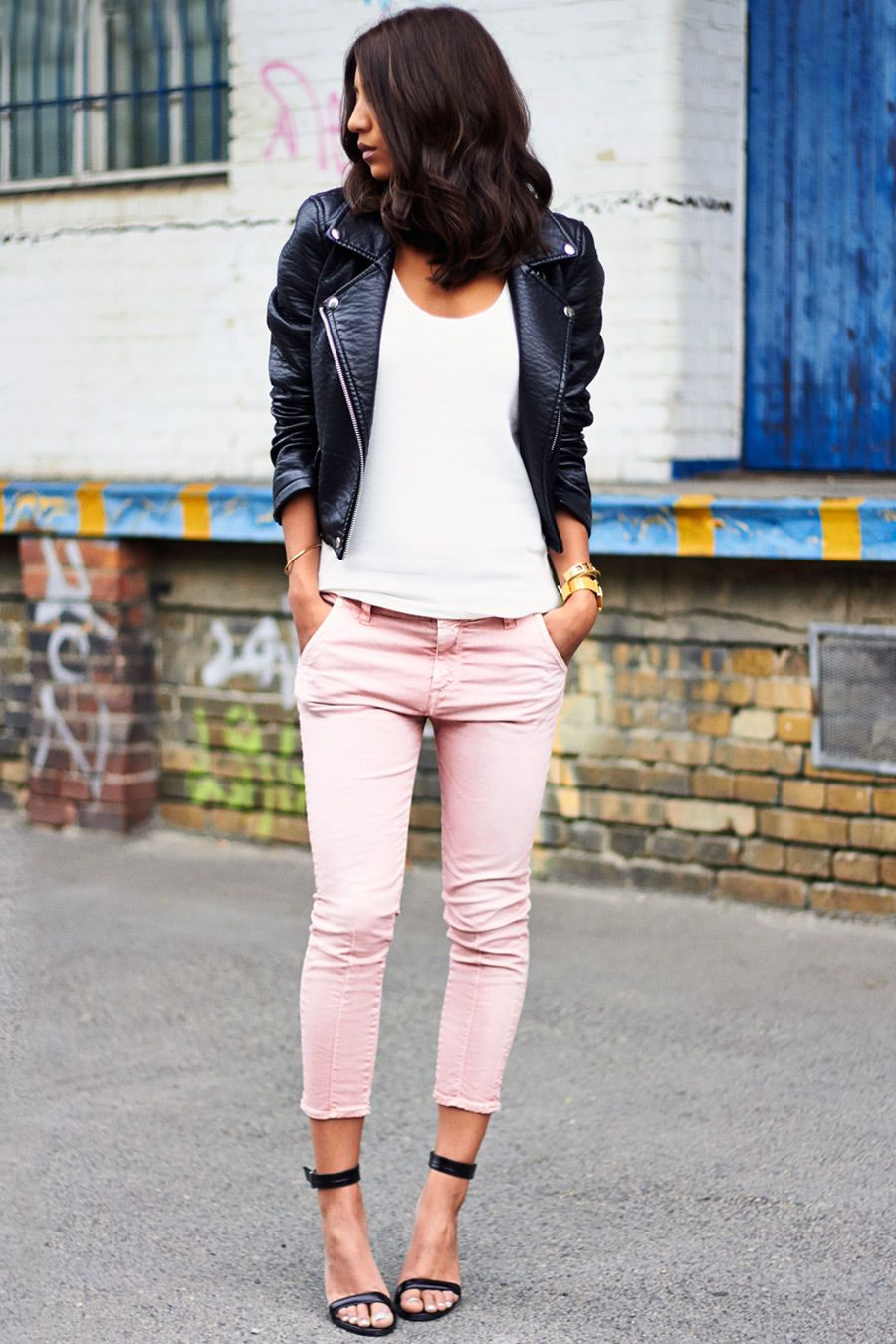 How to pastel wear colored jeans foto