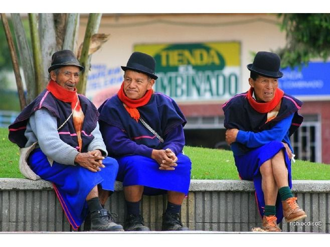 Guambiano men in Silvia, Colombia