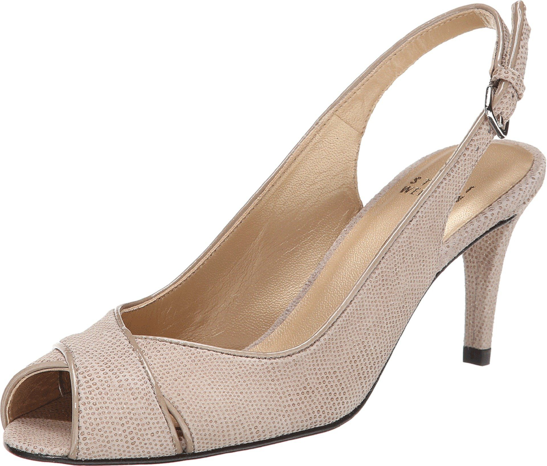 Stuart Weitzman Women's Crossword Fawn Goose Bump Nappa Pump 7 M. Made in  USA or