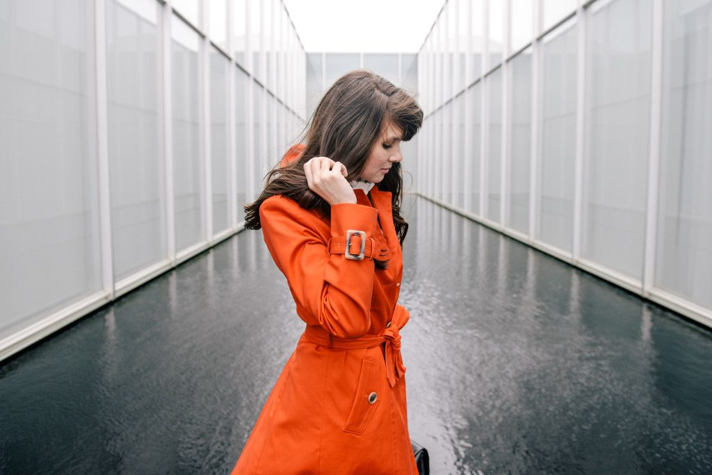 THE M.A. TIMES - Orange Of My Eye // twist on a classic trench coat