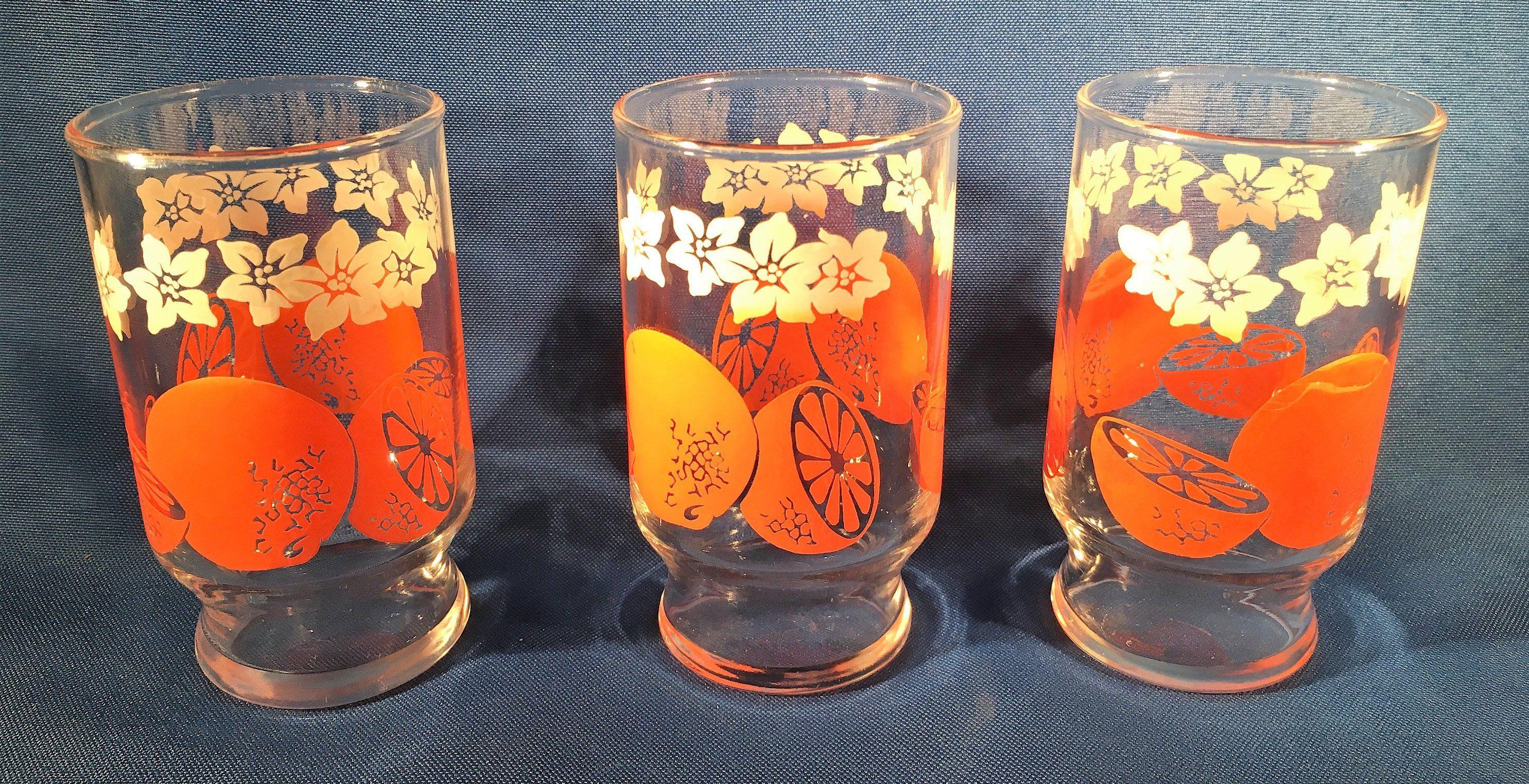 Retro Juice Glasses