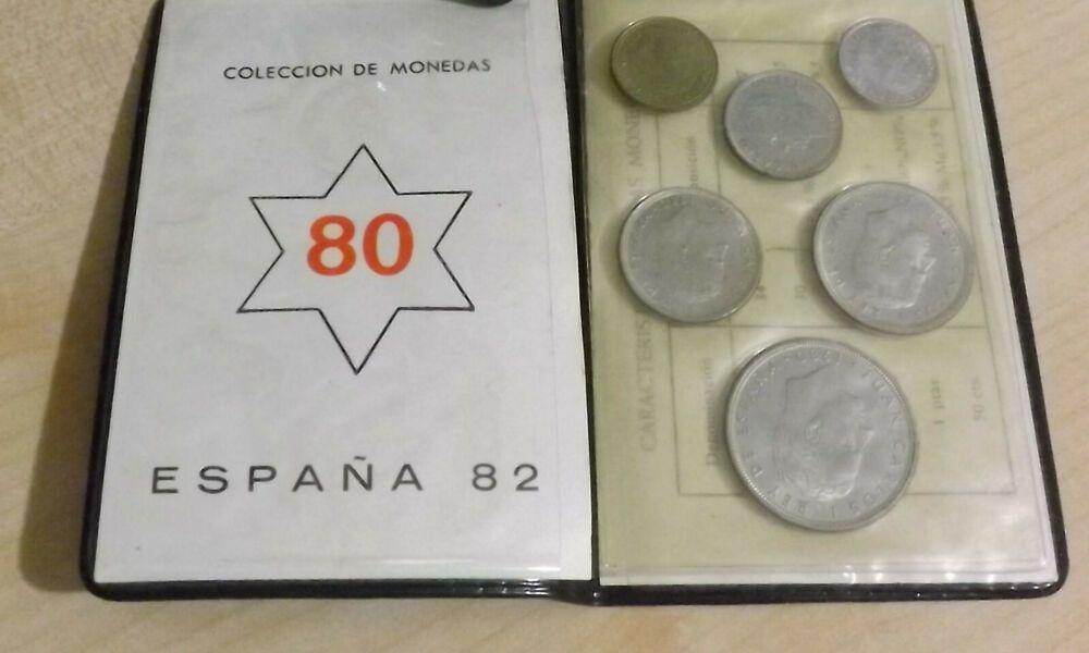 Dettagli Su Spagna Serie Divisionale Di 6 Monete Anno 1982