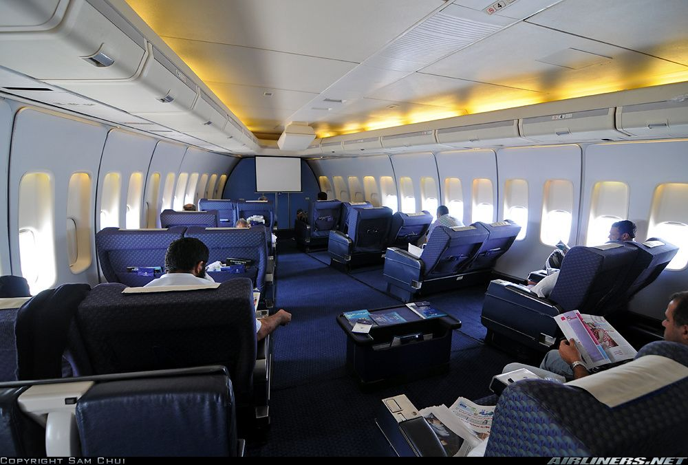 saudi arabian airlines boeing 747 368b first class cabin