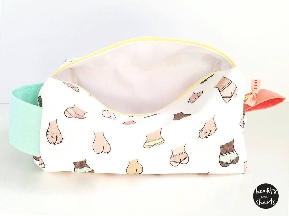 """Adding a couple """"Balls Boobs Butts"""" toiletry bags to the shop. Link in profile. #HeartsAndSharts #CuteShit"""