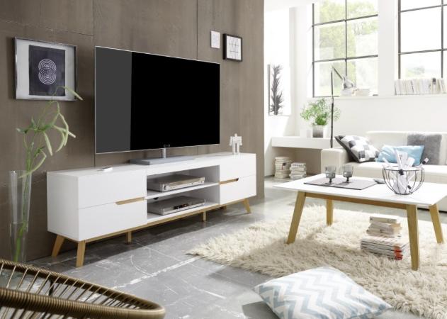 Meuble Tv Cervi Salon Tele Salon Blanc Living Room Scandinavian