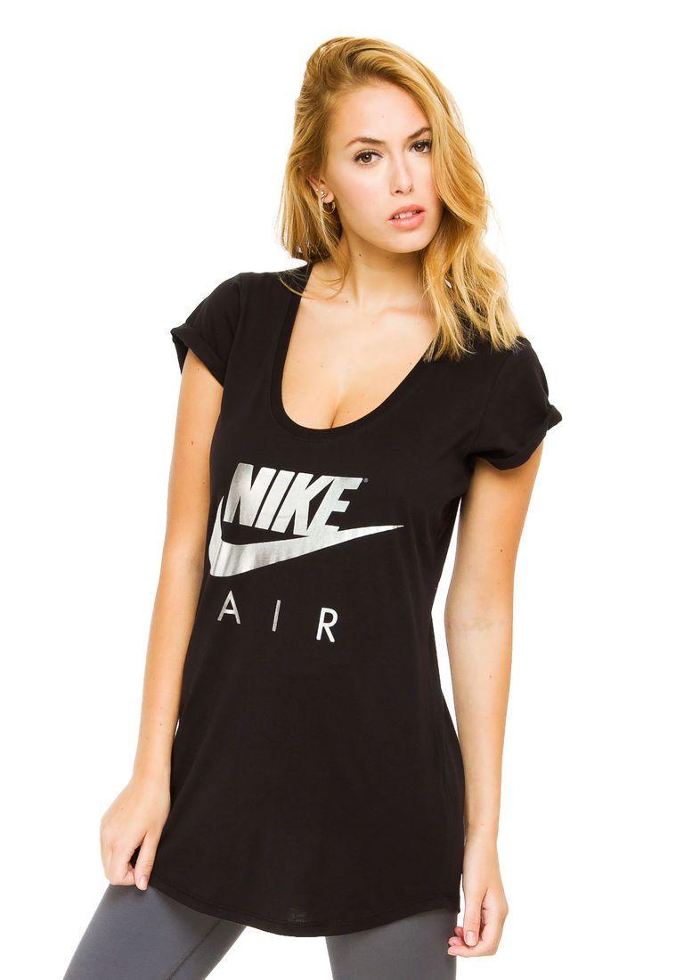 efa9aee305001 Remera Negra Nike Air Clouds - Comprá Ahora