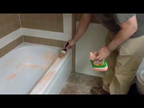 Remove Epoxy Paint From Bathtub With Citristrip Youtube With
