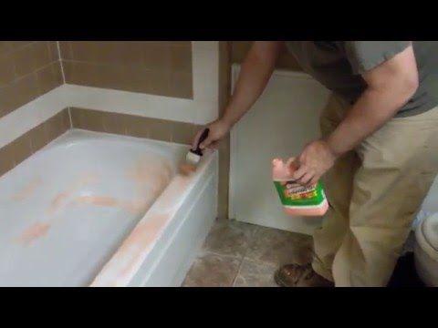 Remove Epoxy Paint From Bathtub With Citristrip Youtube With Images Refinish Bathtub Epoxy Paint Bathtub Tile