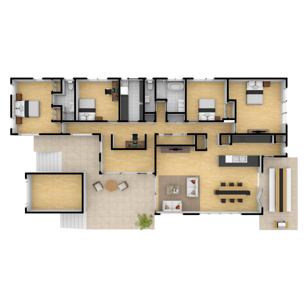 3d Plan Of A House Created With Floorplanner Com Floor Plans Create Floor Plan Floor Plan Design