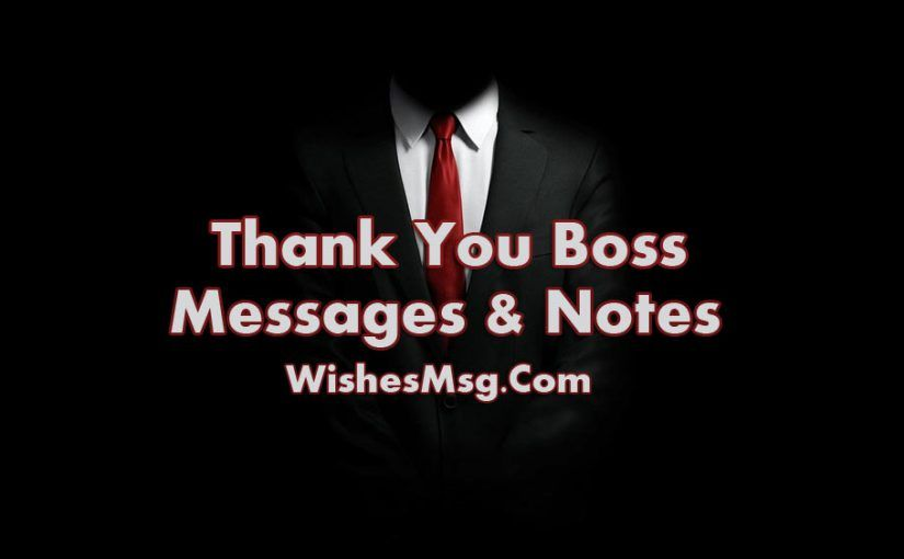 Thank You Message For Boss  Appreciation Notes  Phrases
