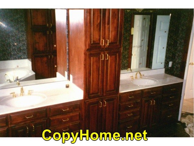 Gorgeous  Bathroom Cabinets And Countertops
