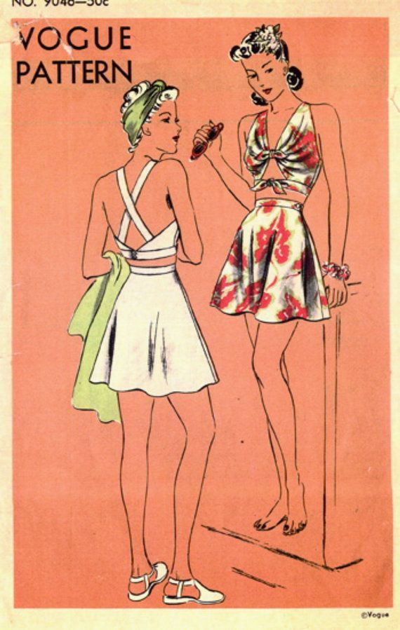 Vintage 1940\'s Vogue Sewing Pattern 9046 RARE GLAM by anne8865 ...