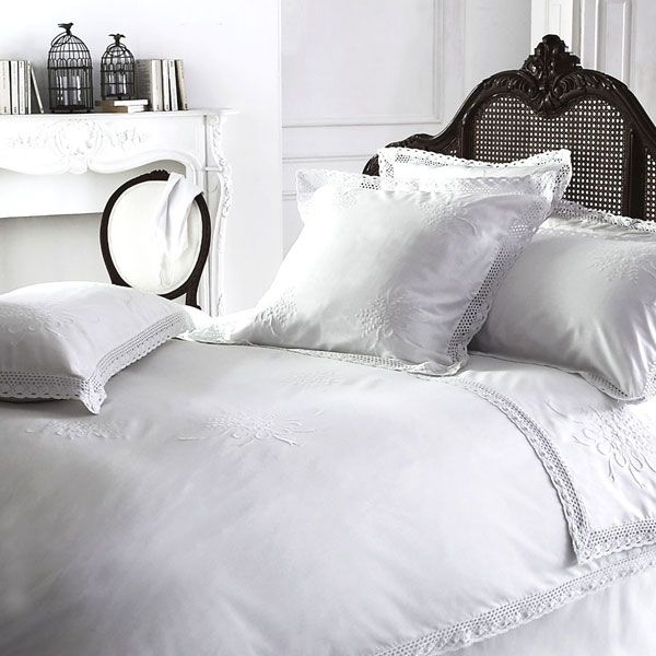 Awesome Luxury White Bed Linen Part - 8: Luxury White Vintage Lace Cotton Bedding Bed Linen | EBay